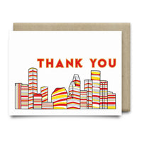 Houston Thank You Card |Classic Rockets Red and Yellow - Cards