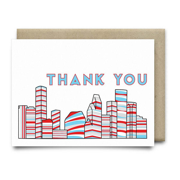 Houston Thank You Card |Luv Ya Blue - Cards