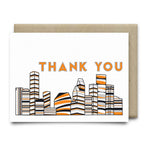Houston Thank You Card |Astros Orange and Blue - Cards