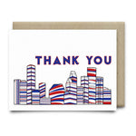 Houston Thank You Card |Red White and Blue - Cards