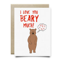 I Love You Beary Much Greeting Card - Cards