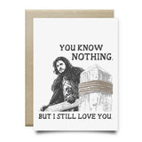 You Know Nothing | Jon Snow Card - Cards