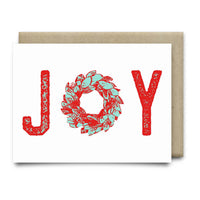 Joy Wreath Christmas Card