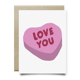 Love You Candy Hearts Greeting Card - Cards