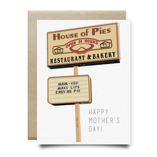 House of Pies - Easy as Pie Mother's Day Card