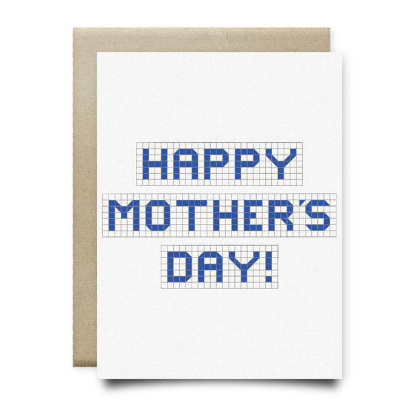 Happy Mother's Day Blue Tiles