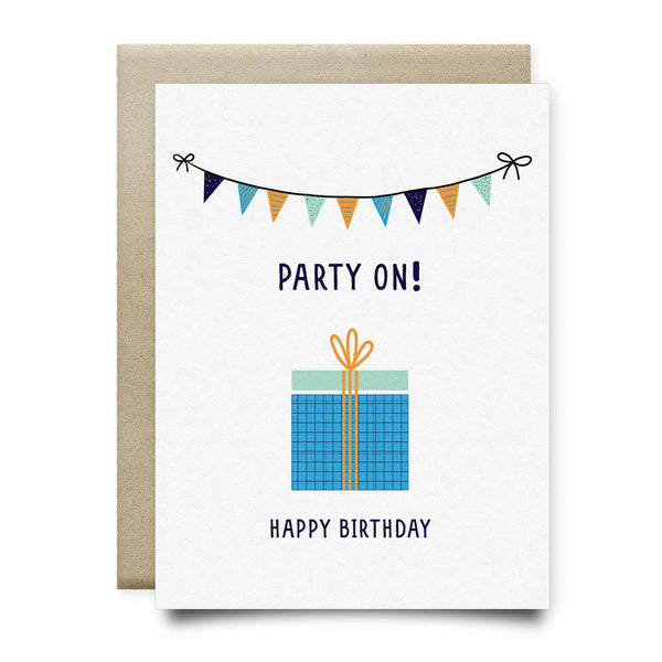 Party On Happy Birthday Card - Cards
