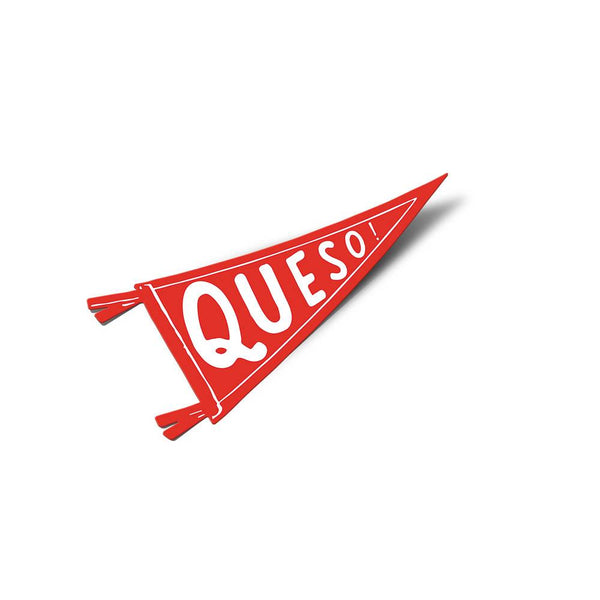 Queso Pennant Sticker