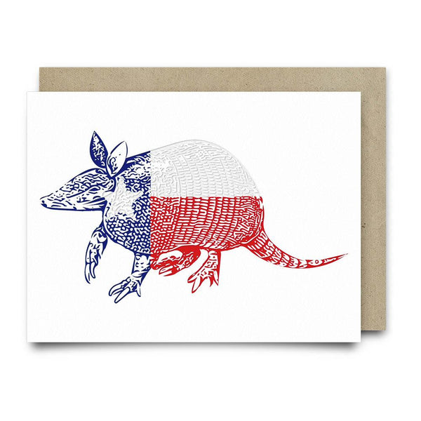 Texadillo Armadillo Texas Flag Greeting Card - Cards