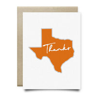 Texas Thank You Card | Burnt Orange - Cards
