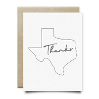 Texas Thank You Card | Gray - Cards