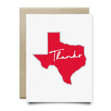 Texas Thank You Card | Red - Cards