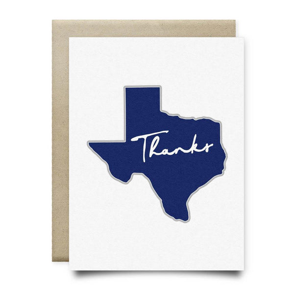 Texas Thank You Card | Navy Blue - Cards