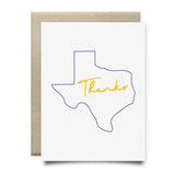 Texas Thank You Card | Purple and Yellow - Cards