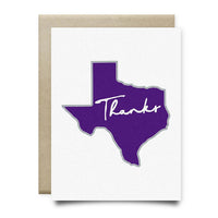 Texas Thank You Card | Purple and Gray - Cards
