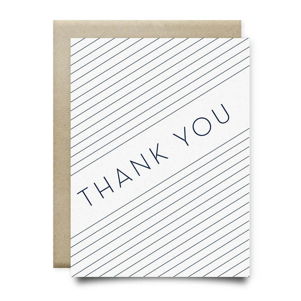 Thank You Card | Blue Stripes - Cards