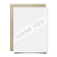 Thank You Card | Gray Stripes - Cards
