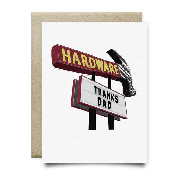 Thanks Dad Hardware Sign - Cards