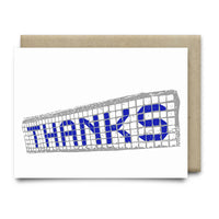 Thanks Blue Tiles Card - Cards