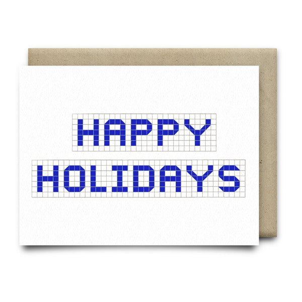 Happy Holidays | Houston Blue Tiles Greeting Card