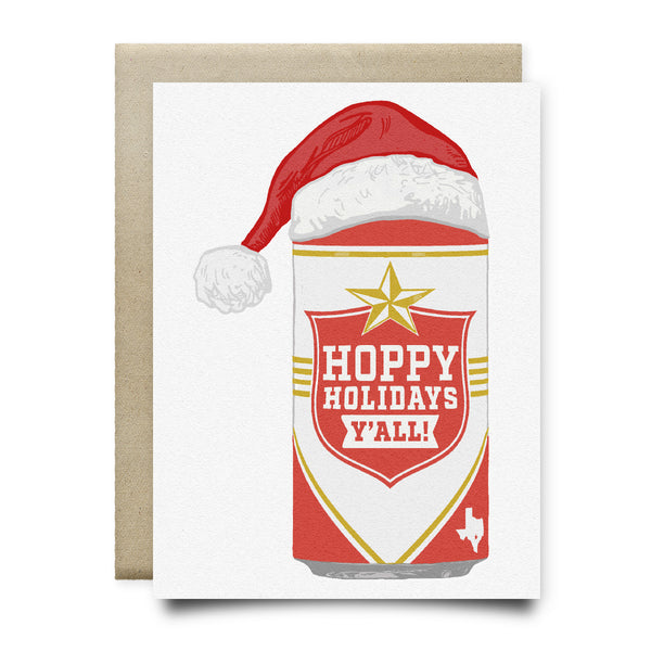Lone Star Hoppy Holidays Christmas Card