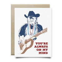 Willie Nelson Card | Always On My Mind - Cards