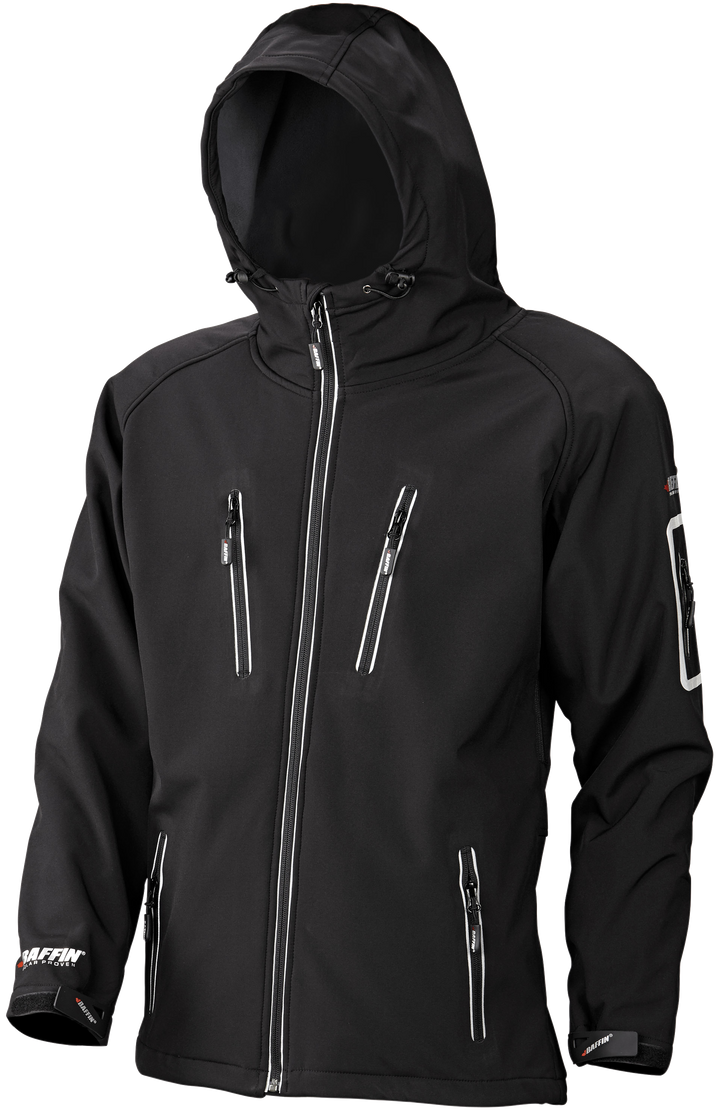 SOFT SHELL HOODED JACKET (MEN)