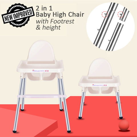 2 In 1 Baby High Chair Ikea Inspired With Footrest Funky