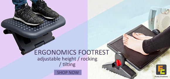 Ergonomics adjustable foot rest fast delivery singapore