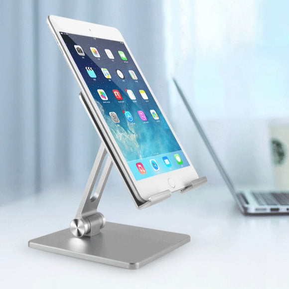 V5 Charging Tablet/ Ipad stand , Aluminium Folding Mobile Stand. Supports up to 12 inch