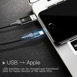 Baseus 3.0A iOS 2 in 1 USB / Type C to Lightning cable for Macbook - 1m