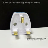 (3PCS) UK 3 Pin Plug Travel Adaptor 3-pins Power Adaptor Power Converter Multiplug Universal Singapore