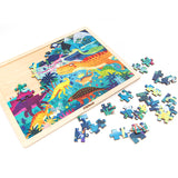 MiDeer 100pieces Framed Standing Wooden Jigsaw Puzzle