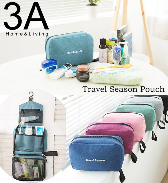 Travel Season Storage Bag Toiletries Organizer With Hook