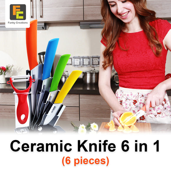6in1 Ceramic knife Set ( Two Colours)