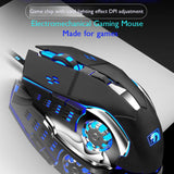 Mechanical Gaming Wired Mouse, Optical Sensor, for Computer PC Laptop Macbook Black