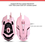 Unicorn Gaming Mouse Silent Click, LED Backlit Optical Ergonomic Gaming Mouse