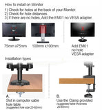Dual Monitor Stand Bracket VESA Monitor Mount Arm KALOC DS90-2