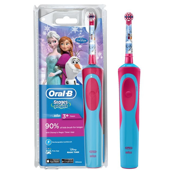 ( Various Design) Oral B Stages Power Electric Rechargeable Replaceable Brush Head Toothbrush For Kids 3+