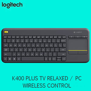 Logitech K400 PLUS TV relaxed wireless control of your PC connected TV