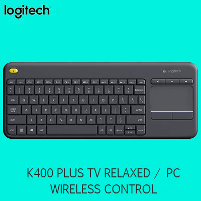 Logitech K400 PLUS TV relaxed wireless control of your PC connected TV - Export Set