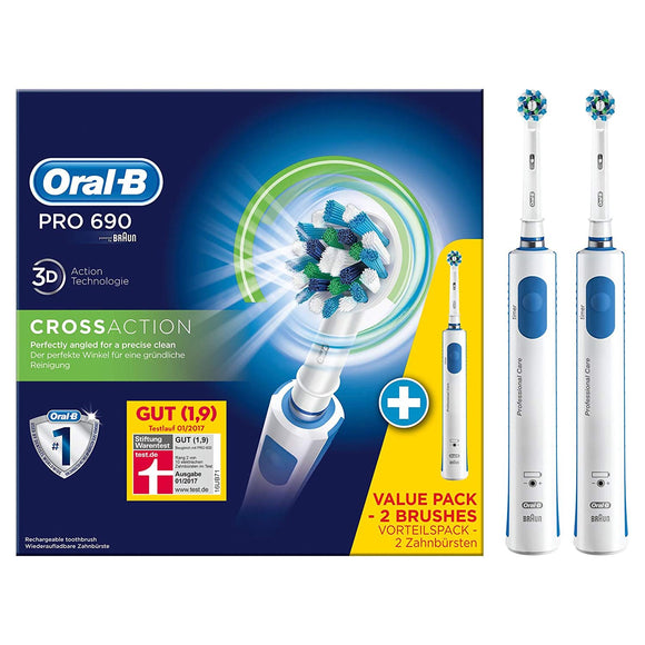ORAL B PRO 690 TWIN PACK (Cross Action)