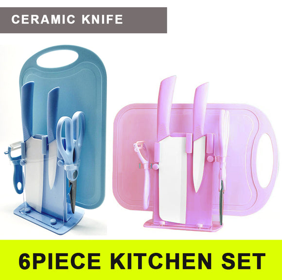 6Pcs Ceramic Cutting Knife Combo