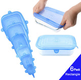 Reusable Silicone Storage Cover, 6 Different Sizes