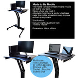 Height Adjustable Mobile Computer Table / Presentation Table