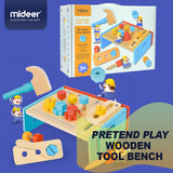 Pretend Play Wooden Set, MiDeer Kids BBQ Set, Tool Bench, Medical Kit