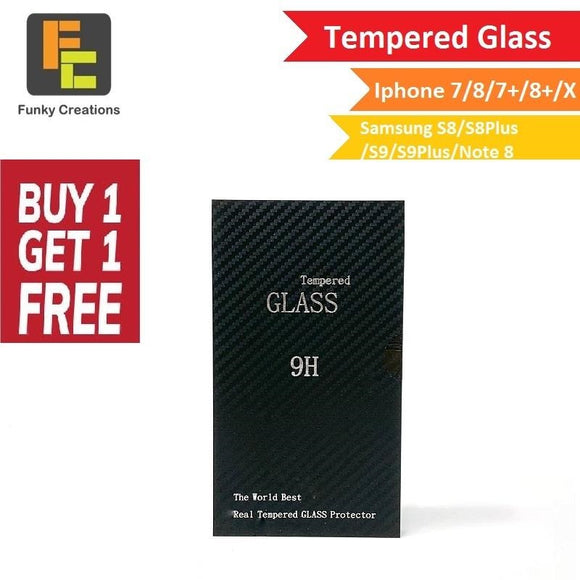*BUY 1 FREE 1* 9H Tempered Glass Screen Protector (Iphone & Samsung)