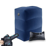 Inflatable Travel Footrest with Foldable Air Pump/ Ergonomic Foot Rest for Plane, Flight Car Footrest Type D