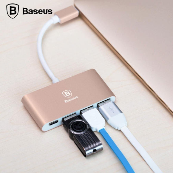 Baseus Type -C + 3 HUB Multi-Function, Flexible Conversion USB3.1