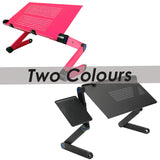 Multifunctional Foldable Laptop Table, Laptop Stand (2 Sizes m Black/Pink)